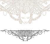 Detailed art-nouveau decorative divider