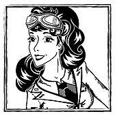 pin-up aviation girl portrait
