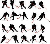 20 detail ice hockey poses