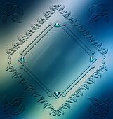 Digitally painted elegant ornament frame design resource
