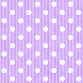 Purple and White Polka Dot and Stripes Fabric Background