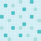 Blue ceramic tile seamless pattern