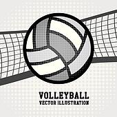 Volleyball Net Clip Art - Royalty Free - GoGraph