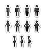 Man and women body icons