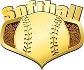 Gold Softball Shield