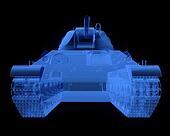 X-ray version of soviet t34 tank
