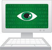 Computer Screen Eye Spy