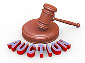 3d gavel and auction