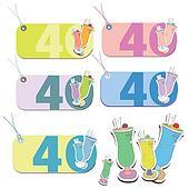 Happy 40th year tags