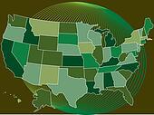 USA MapVector