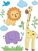 Safari Animals Sticker Designs