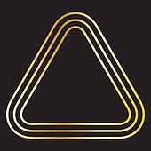 TRIPLE GOLDEN TRIANGLE ROUNDED CORNERS BACKGROUND