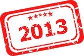 Happy new year 2013  stamp