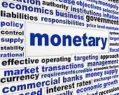 Monetary business words poster
