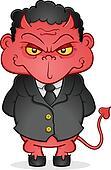 Evil Business Devil Cartoon Charact