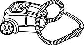 Vector Sketch of Vacuum Cleaner