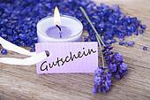 label with Gutschein on it