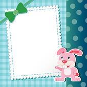 rabbit. baby card.