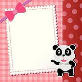 panda. baby card.