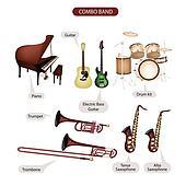 A Set of Combo Brand Music Equipment