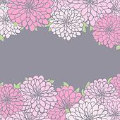 background with chrysanthemum