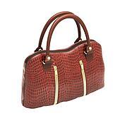 Crocodile leather handbag isolated