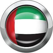 United Arab Emirates flag metal but