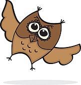 Cute Lttle Cartoon Owl