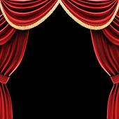 Open theater drapes