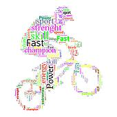 Word Cloud of Bicycle Stunt Action