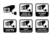 CCTV camera, Video surveillance ico
