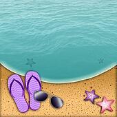 Flip-flop on the beach