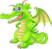 Cartoon Standing Dragon