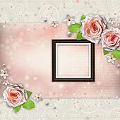 Background for congratulation with beautiful rose
