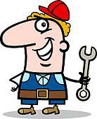 manual worker cartoon illustration