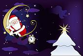 Santa Claus sleeps on the moon