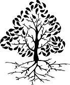 Tree icon silhouette