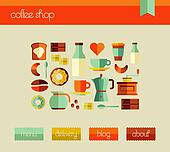 Coffee Shop web design template