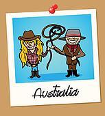 Australia travel polaroid people
