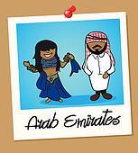 United Arab Emirates travel polaroid people
