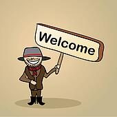 Greetings/welcome to australia  people design