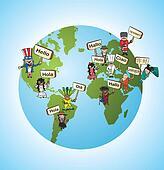 Global languages translate concept