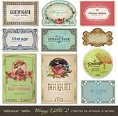 Vintage labels set 2