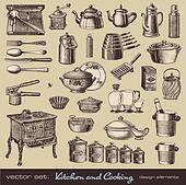 Kitchen and cooking design elements
