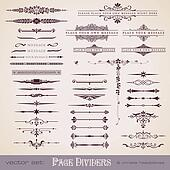 Dividers and ornate headpieces