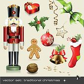 Assorted classical holiday items