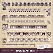 Seamlessly tiling borders