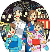 Family, summer festival