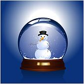 Snow-globe with  snowman inside