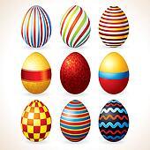 Easter Eggs Set. Clip Art